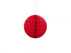 Honeycomb koule červená 10 cm