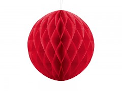 Honeycomb koule červená 30 cm