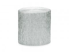 Krepový papír stříbrný 5 cm x 40 m