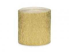Krepový papír zlatý 5 cm x 40 m
