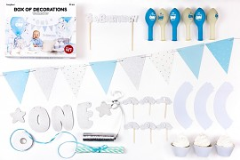 Kolekce dekorací 1 st Birthday modrá