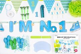 Kolekce dekorací I'm no. 1 modro zelená