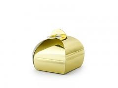 Krabička malá oblá zlatá 10 ks