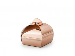 Krabička malá oblá růžovozlatá 10 ks