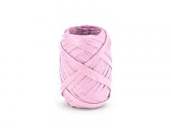 Rafia stuha světle růžová 5 mm x 10 m