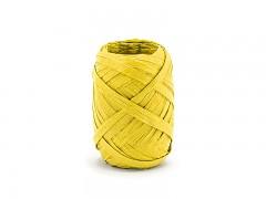 Rafia stuha žlutá 5 mm x 10 m