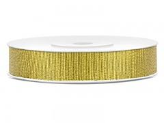 Stuha brokátová zlatá 10 mm x 25 m
