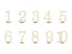 Dřevěné číslice sada 10 ks