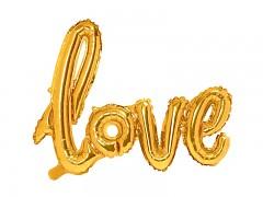 Foliový balónek love zlatý