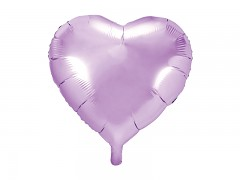 Foliový balónek srdce 45 cm světle fialový lila