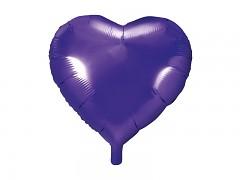 Foliový balónek srdce 45 cm fialový