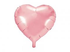 Foliový balónek srdce 45 cm světle růžový