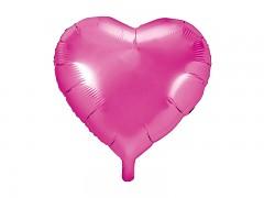 Foliový balónek srdce 45 cm sytě růžový