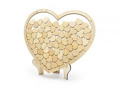 Dřevěná kniha hostů srdce