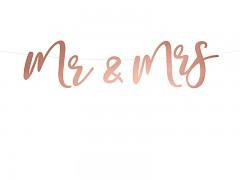 Baner mr & mrs růžovozlatý