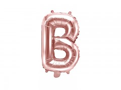 Fóliové písmeno B růžovozlaté