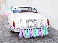 Set dekorací na auto Stříbrný LOVE