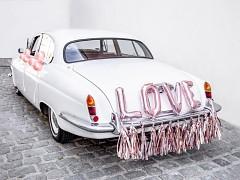 Set dekorací na auto Růžovozlatý LOVE
