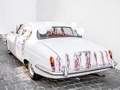 Set dekorací na auto Růžovozlatý Just married