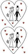 Kapesníčky Novomanželé v srdci