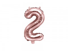 Fóliová číslice 2 růžovozlatá