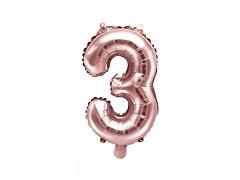 Fóliová číslice 3 růžovozlatá