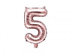 Fóliová číslice 5 růžovozlatá