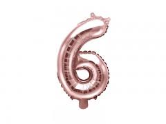 Fóliová číslice 6 růžovozlatá