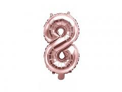Fóliová číslice 8 růžovozlatá