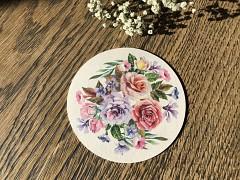 Nápojový tácek s růžemi
