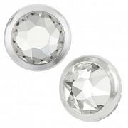 SO.nia krystaly Swarovski 4 mm s kovovým lemováním 20 ks