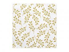 Ubrousky bílé se zlatými větvičkami
