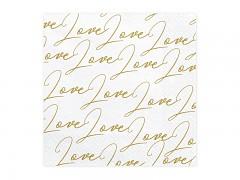 Ubrousky bílé popsané nápisy love