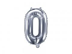 Fóliová číslice 0 stříbrná
