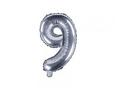 Fóliová číslice 9 stříbrná