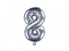 Fóliová číslice 8 stříbrná