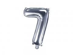 Fóliová číslice 7 stříbrná