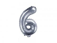 Fóliová číslice 6 stříbrná