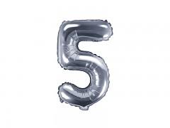 Fóliová číslice 5 stříbrná