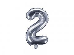 Fóliová číslice 2 stříbrná
