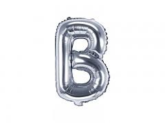 Fóliové písmeno B stříbrné