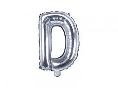 Fóliové písmeno D stříbrné