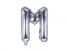 Fóliové písmeno M stříbrné
