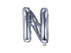 Fóliové písmeno N stříbrné