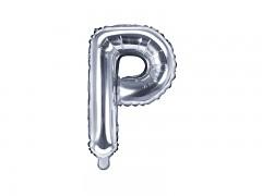 Fóliové písmeno P stříbrné