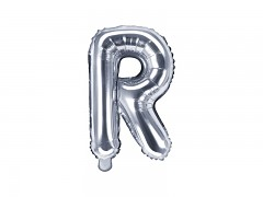 Fóliové písmeno R stříbrné