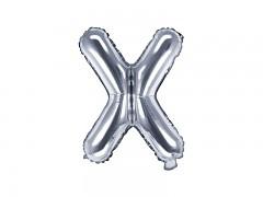 Fóliové písmeno X stříbrné