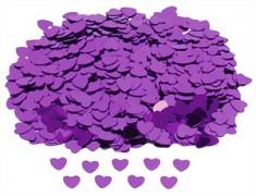 Konfety srdíčka fialová