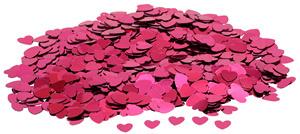 Konfety srdíčka tmavě růžová