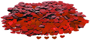 Konfety srdíčka červená